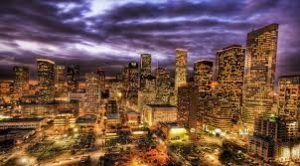 A view of Houston at night. Move to Texas and feel his vibe.