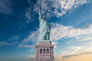 Statue of Liberty. Moving to the Big Apple is a dream of most of people.