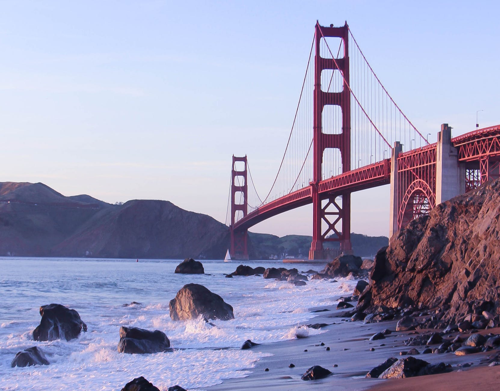 The Golden Gate - one of the free landmarks to see when living on a budget in San Francisco.