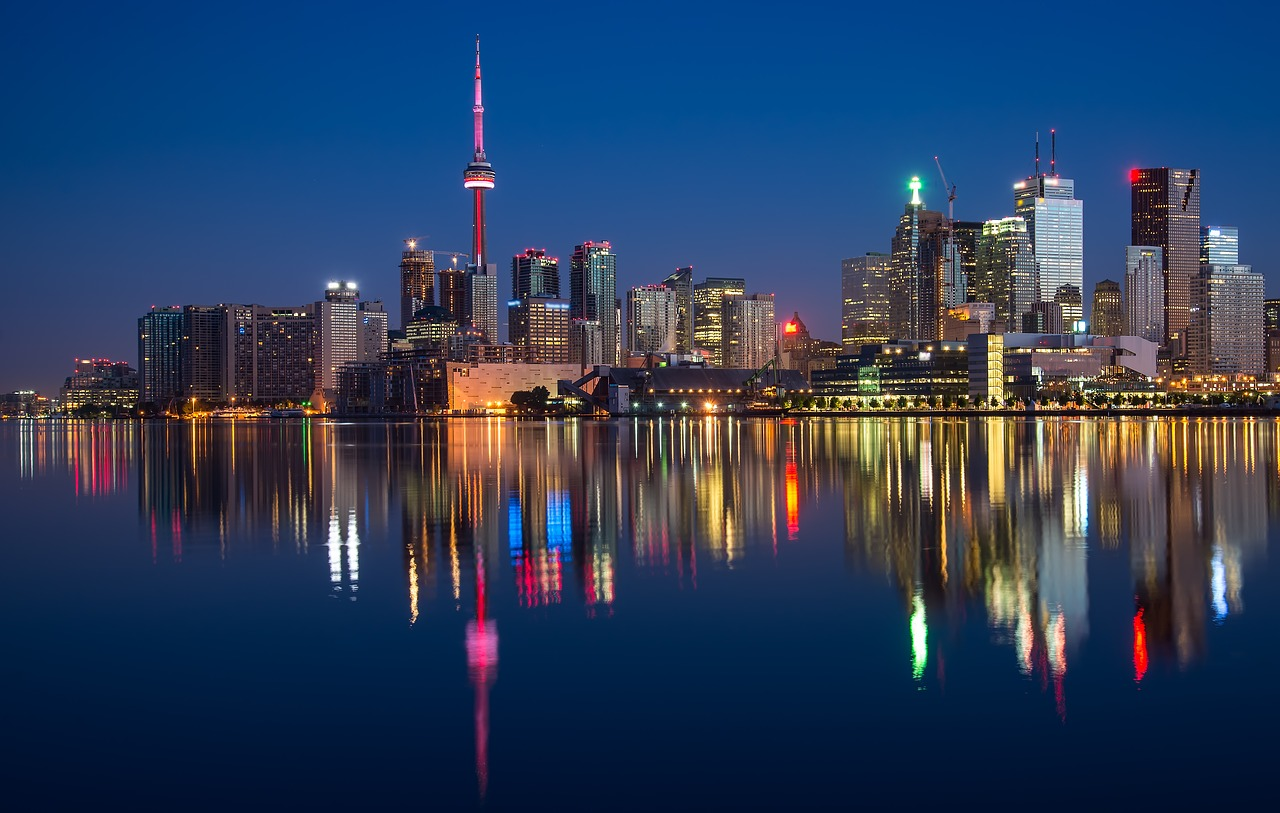 Toronto at night.