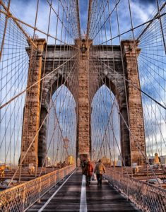 The bridge is the first thing you'll see when you move to Brooklyn when looking for a job
