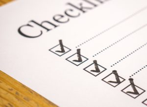 Make a moving checklist to help yourself when moving