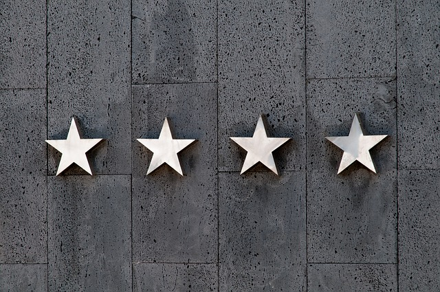 Stars - like you will see in moving reviews.