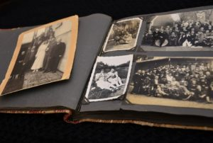 An old photo album, something you don't throw away when you declutter your home