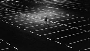 man on a parking spot