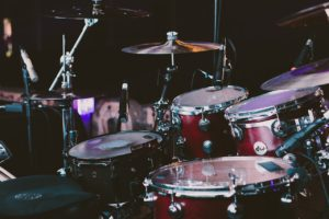 A man playing the drums.