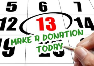 Schedule in the calendar to organize belongings for donation before moving