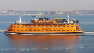 Staten Island ferry with a beautiful view