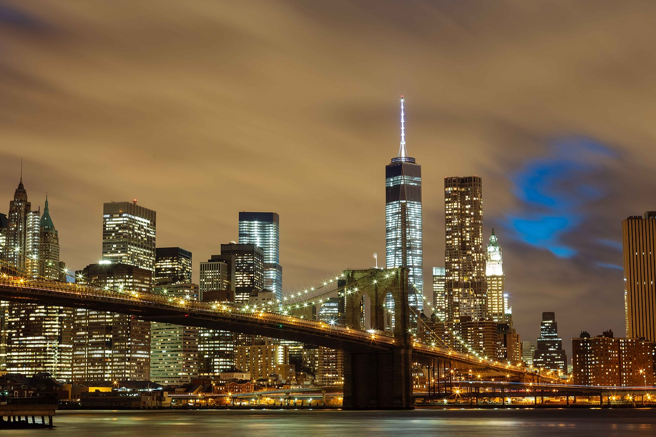 The famous Brooklyn Bridge.