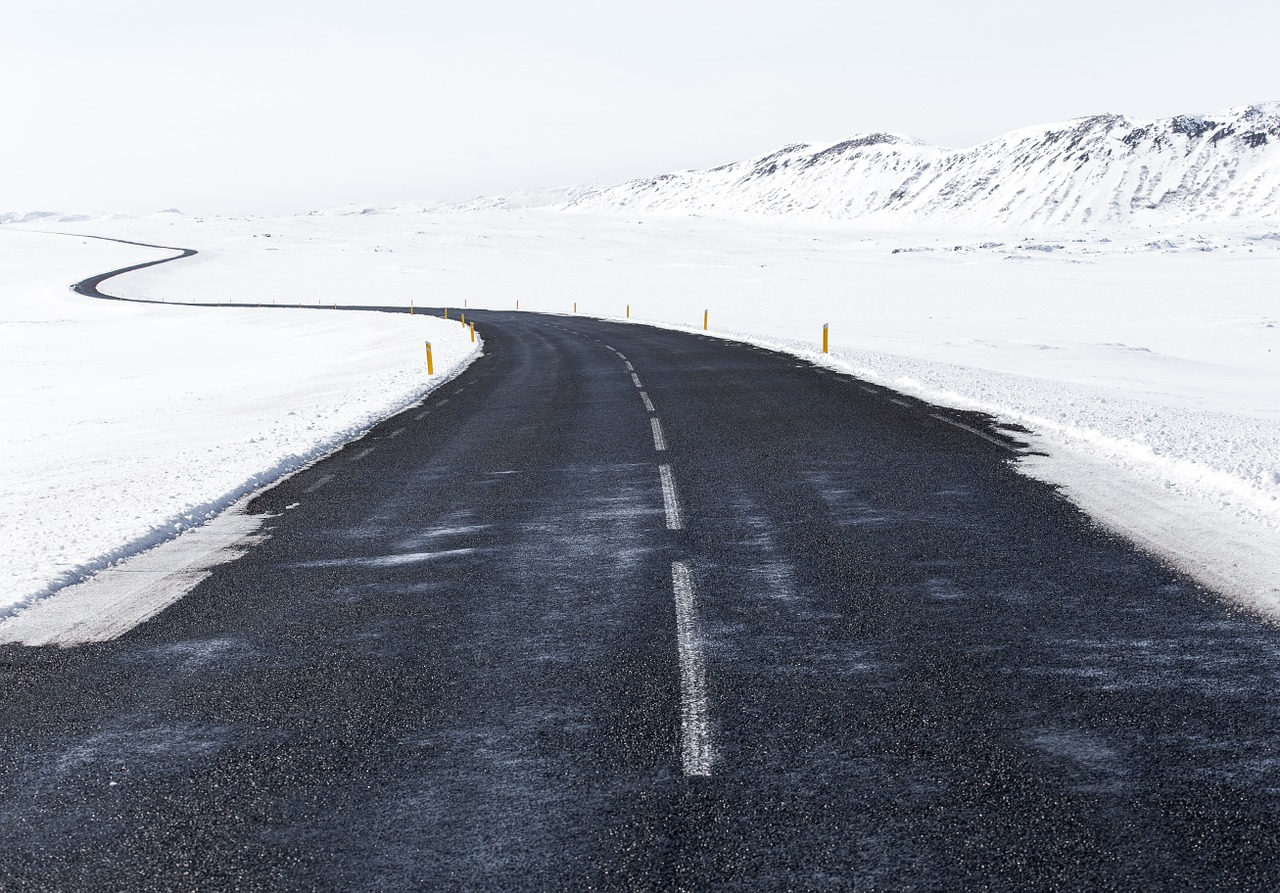 If you'll be moving during the winter, this is what the road will look like.