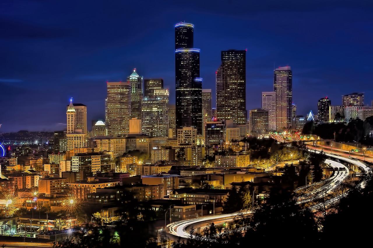A Seattle cityscape.