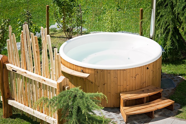 Whirlpool Hot Tub in the yard is a nice place to rest and relax but it is difficult to move