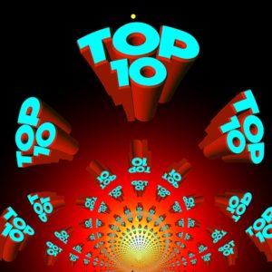 A Top 10 sign.