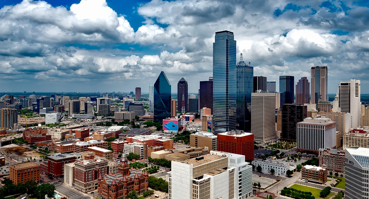 Panorama of the city of Dallas