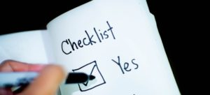 The yes or no checklist.