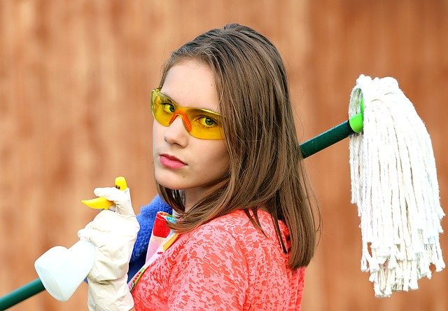 Starting cleaning your new home.