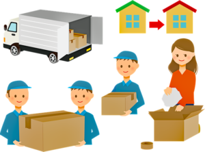 An illustration of the process of moving specialty items.