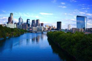 A view of Philadelphia.