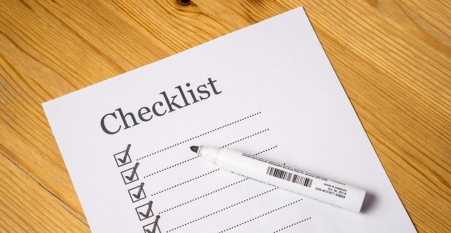 Move out cleaning checklist.