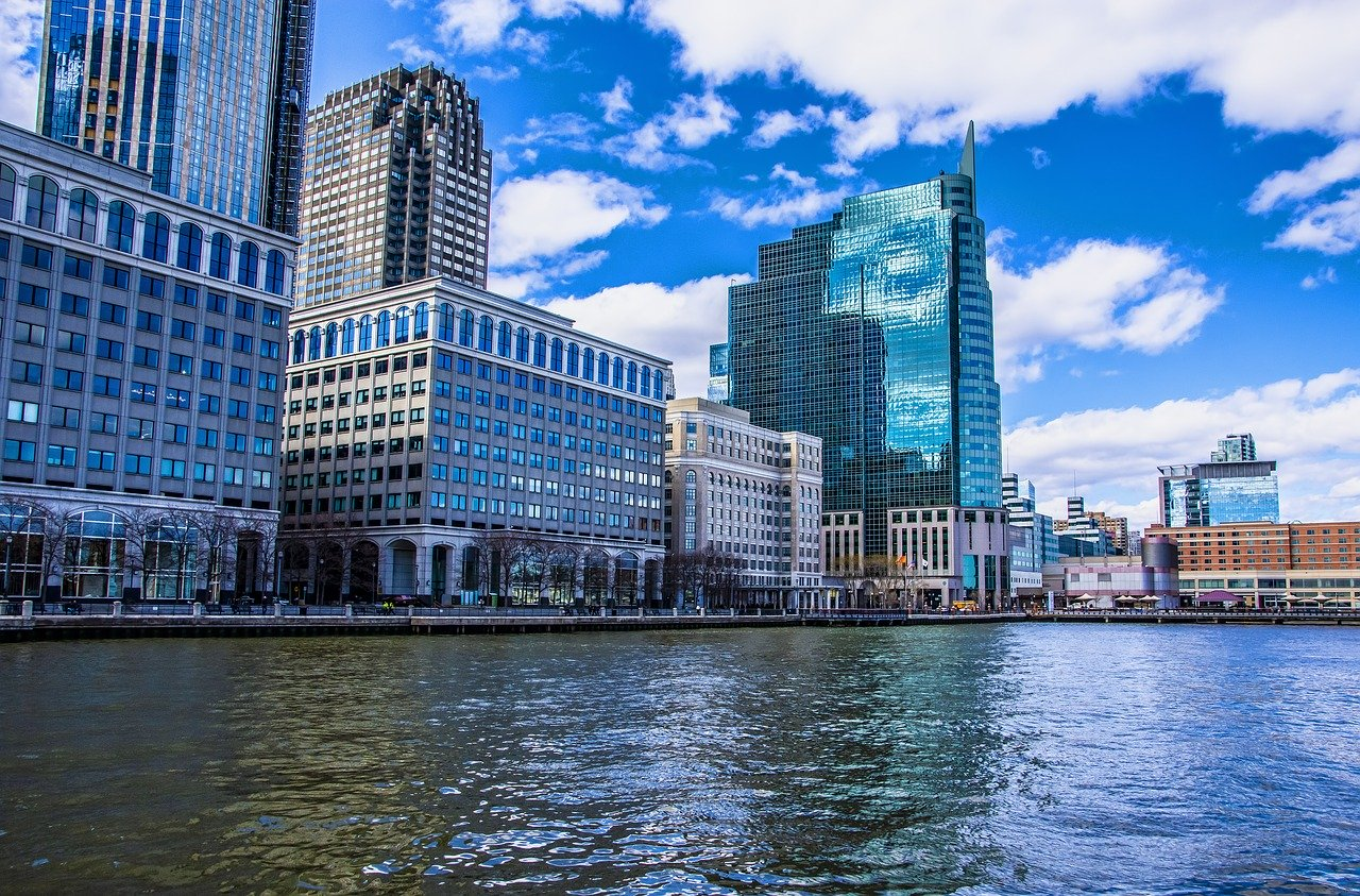 Magnificent view at Jersey City's offices that will make you seriously consider to move your business to Jersey City.