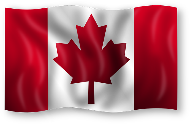 A Canadian flag.
