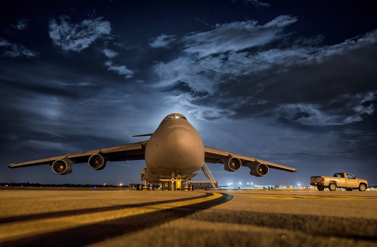 A huge cargo plane to consider when looking for a way to transport commercial goods in a week.