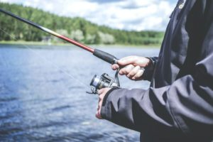 A fishing rod is a part of fishing equipment.