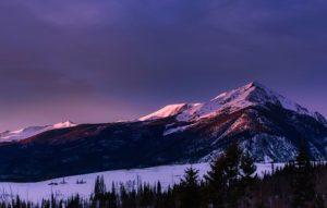 Mountain peaks in Colorado.