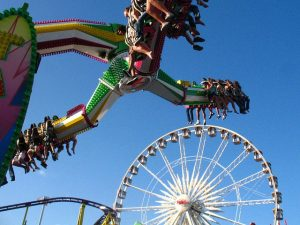 Amusement park in one of the best places to buy a house in Orange County.