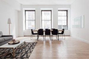 A living room decoratd in line with futuristic design ideas.