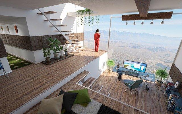 Futuristic design ideas applied in a home.