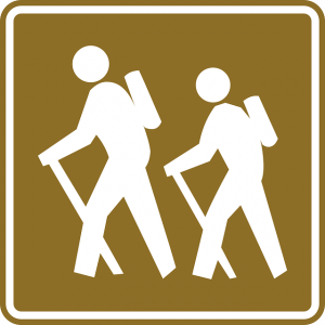 A sign for hiking.