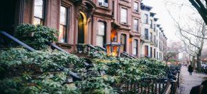 A street in one of Brooklyn neighborhoods.