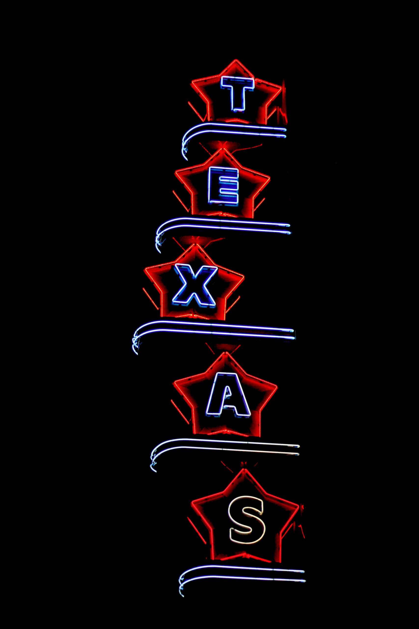 Texas light sign.