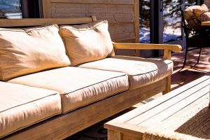 Garden furnitue. Choose functional furniture because you will be able to maximize storage space in your back yard.