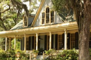 Typical Louisiana house with a big porch