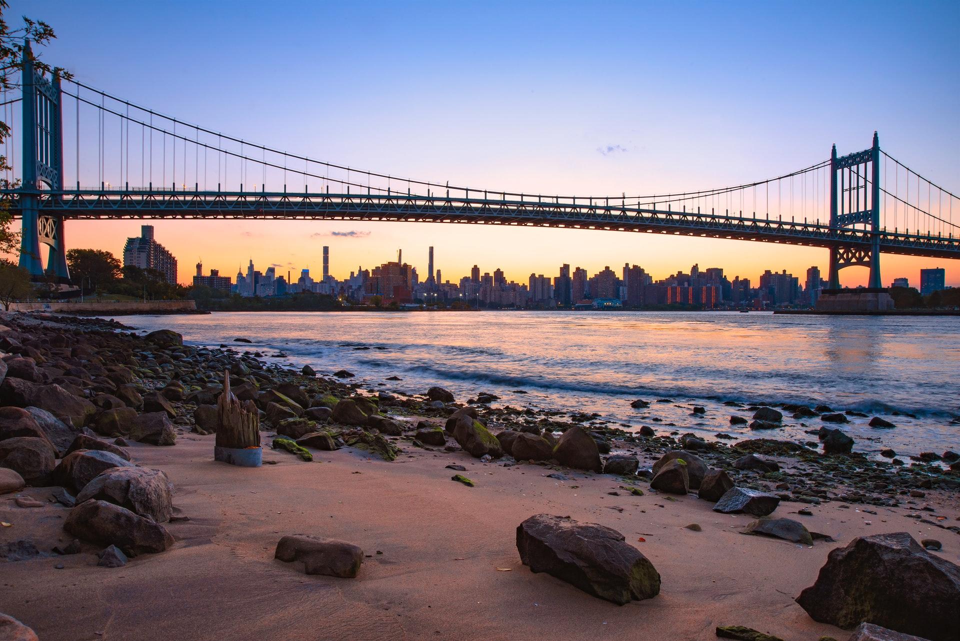 A view of Manhattan from Astoria, Queens.