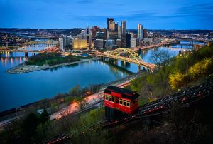 The view of Pittsburg, an inevitable citz in our real estate guide for Pennsylvania